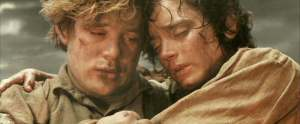 Frodo and Sam at Mt. Doom